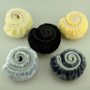 Image 5 - Fundas de dirección de felpa de VOLTOP accesorios de coche funda de volante de invierno de lana suave antideslizante diámetro Universal 36 38cm