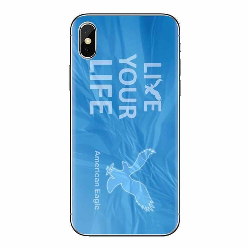 アメリカンイーグル outfitters ロゴプリント Huawei 社メイト名誉 4C 5C 5 × 6 × 7 7A 7C 8 9 10 8C 8 × 20 Lite プロシリコーン電話スキンケース