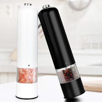 ABS elektryczny pieprz sól młynek do przypraw młynek przyprawa młynek do kuchni narzędzie młynek do przypraw młyny moedor de tanie i dobre opinie alloet CN (pochodzenie)