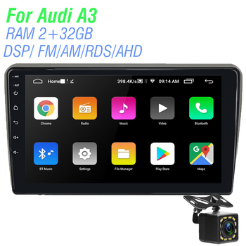 Android Car Radio Multimedia Video Player For Au di A3 2003 2004 2005 2006 2006 2007 2008 2009 2010 2011 Navigation GPS 2din image