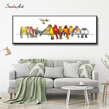The Birds On Wire Art Canvas Wall Pictures For Living Room Home Decor cuadros