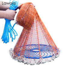 Lawaia landing net fish Cast Net Fishing Network USA Fishing Trap Hand-throw Fly Fish Network with iron Sinkers netting fish net