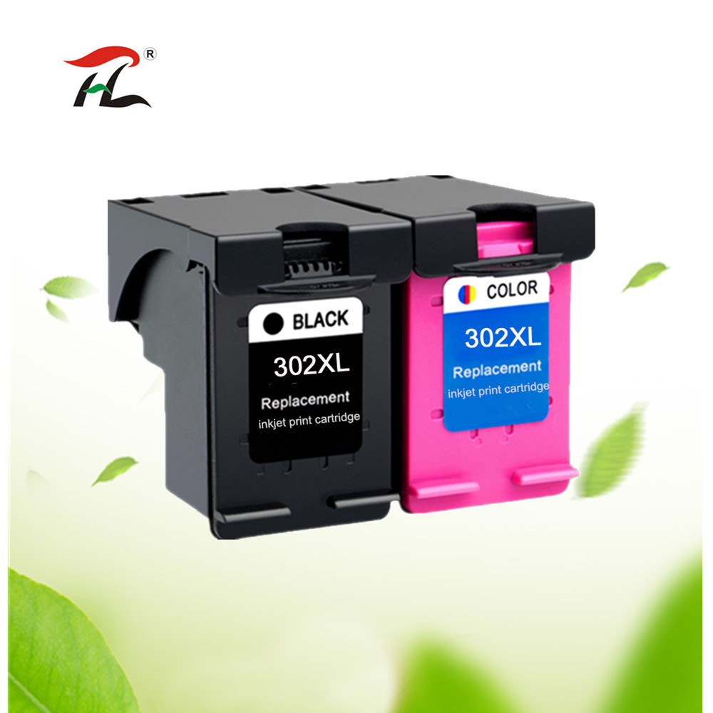 302XL Ink Cartridge Compatible For HP 302 XL For Hp302 For HP Deskjet 2130 2135 1110 3630 3632 Officejet 3830 3834 4650
