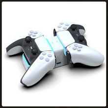 PS5 Wireless Controller Dual Charger USB Schnelle Lade Cradle Dock Station Stand mit Led-anzeige