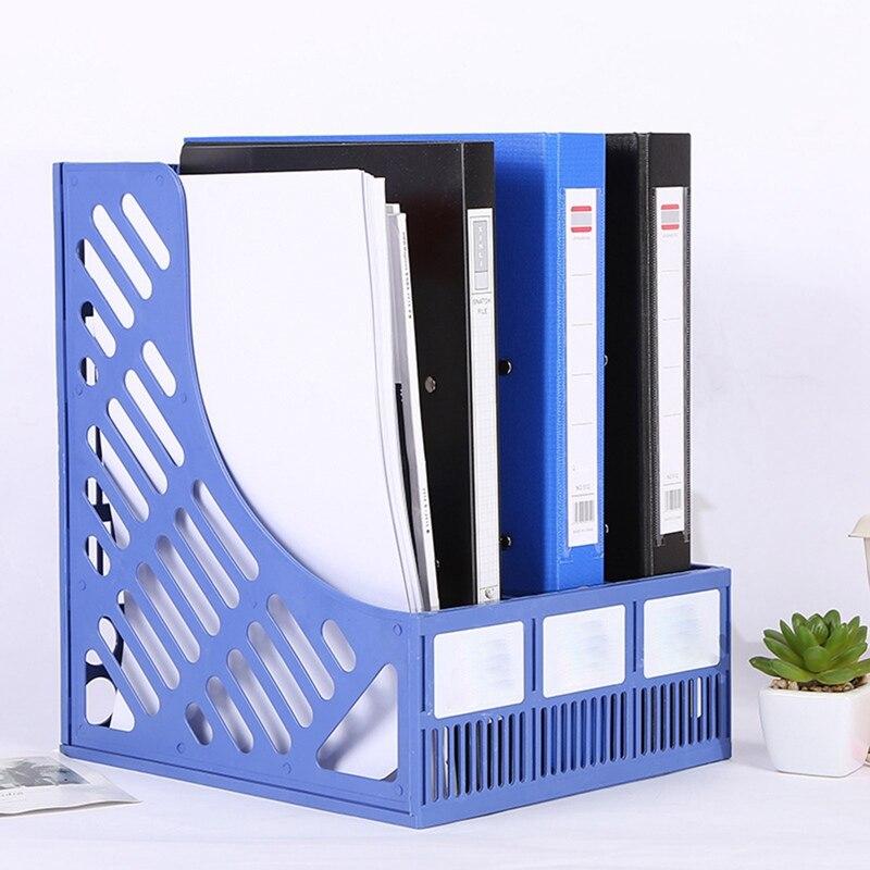 1 Pcs Plastic Multi-layer File Frame Shelf Holder Data File Document Storage Box Rack Student School Office Supplies Stationery