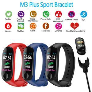 M3 Plus Smart Watch Bracelet Wristband Blood Pressure Step Counter Outdoor IPS Screen Heart Rate Monitor Waterproof Watch