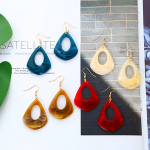 LOVBEAFAS Drop Dangle Acrylic Earrings for women kolczyki Fashion Simple Korean Geometric Hanging Bohemian Earring Jewerly