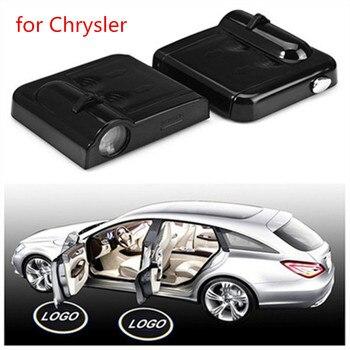 2pcs LED Car logo Door welcome lamp For Chrysler models300 200 Sebring Thema laser Projector Shadow Ghost Courtesy light