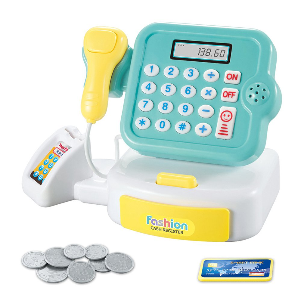 Children'S Home Toys Mini Supermarket Cashier Toys Calculate Girls'Gifts With Sound And Light Cash Register Toy