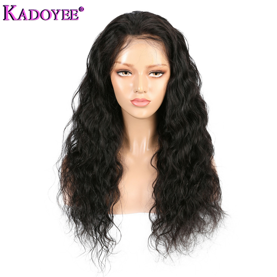 Brazilian Curly Human Hair Wigs Pre Plucked With Baby Hair Water Wave 13*4 Ear To Ear Remy Hair Lace Front Wigs For Black Women