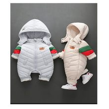 2019 New Baby Winter Out Hugging Clothes Thickened Warm One Piece Clothes Winter Clothes Lovely Super Cute Baby Out Clothes(China)