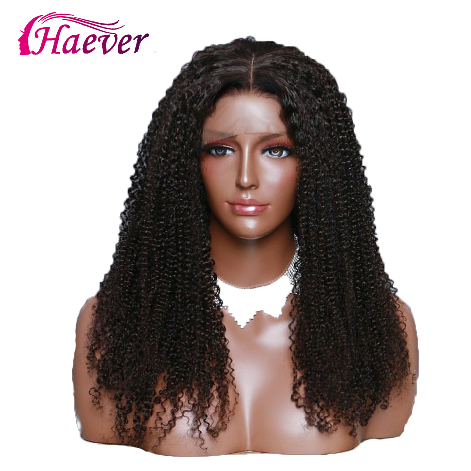 Haever Kinky Curly Lace Front Human Hair Wigs 13x4 For Black Women New Hair Natural Color Remy Hair Wig 180% Density 8-26 Inches