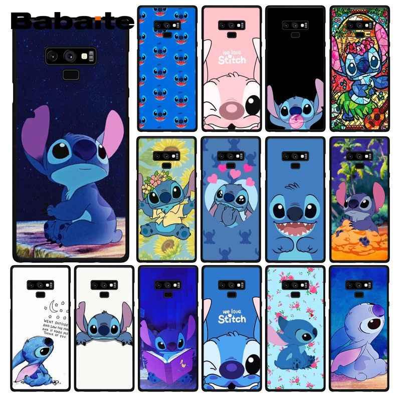 Babaite bonito dos desenhos animados lilo ponto telefone estojo para samsung galaxy a50 note9 8 7 5 10 pro j5 j6 prime j7 duo