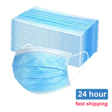 10/50/100/200PCS Disposable Masks Anti Dust Mouth Face Mask 3 layer Non Woven Masks Face Mouth Mask Dustproof Mask Fast Ship