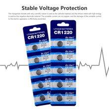 10pc 3v botão baterias cr1220 dl1220 br1220 lm1220 pilha moeda lítio batterycr 1220 para relógio de brinquedo eletrônico remoto