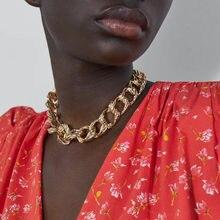 Колье-Чокеры для женщин с цепочкой JUST FEEL ZA, золотого цвета, геометрические круги, ожерелье с подвеской, бохо макси, массивные вечерние ювелирные изделия