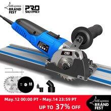 120V/230V Mini sierra Circular 500W de inmersión pista cortar madera/Metal cortador de azulejos 3 hojas de sierra eléctrica de herramienta de poder por PROSTORMER