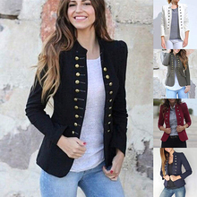 Women Jacket Coat 2019 Autumn Fashion Short Coat High Quality Double-Breasted Ou