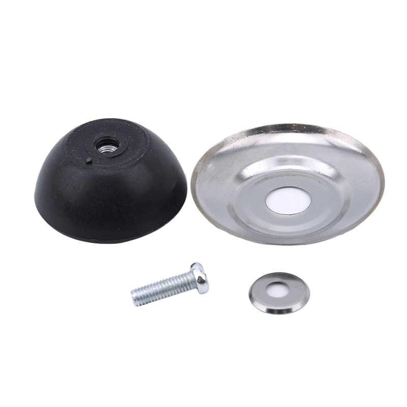 Baru Alat Dapur Penutup Tombol Kaca Dapur Pot Tutup Atas Stainless Steel + Plastik Knob untuk Alat Memasak