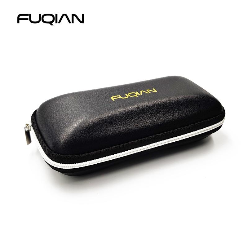 FUQIAN Original Zipper Sunglasses Case High Quality Black PU Protective Glasses Box