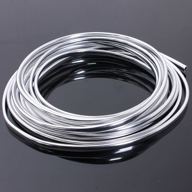 6M Chrome Moulding Trim Strip Car Door Edge Scratch Guard Protector Cover Strip Roll
