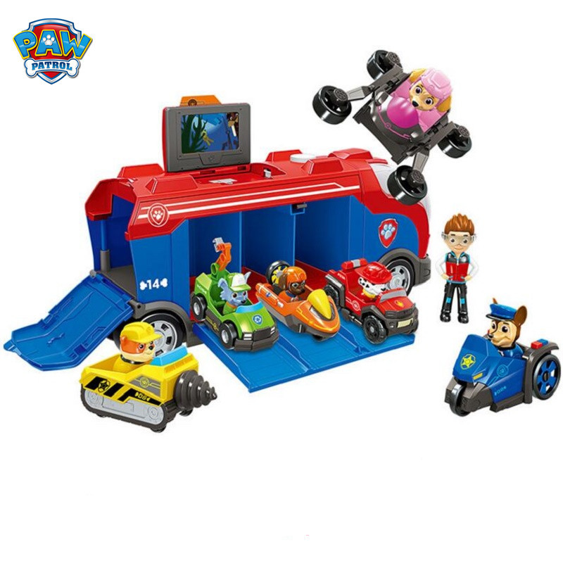 Paw Patrol Dog Toy Anime Rescue Car Deformation Action Model Paw Patrol Dog Toy Toy Car Children Birthday Christmas Gift