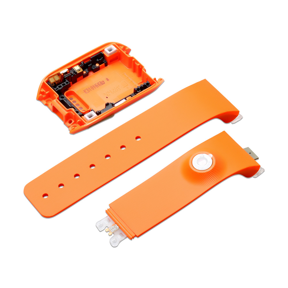 Back Housing Cover + Silicone Watchband Strap for Samsung Gear SM-<font><b>V700</b></font> Watch Accessories Back Cover <font><b>Case</b></font> Wristband Bracelet image