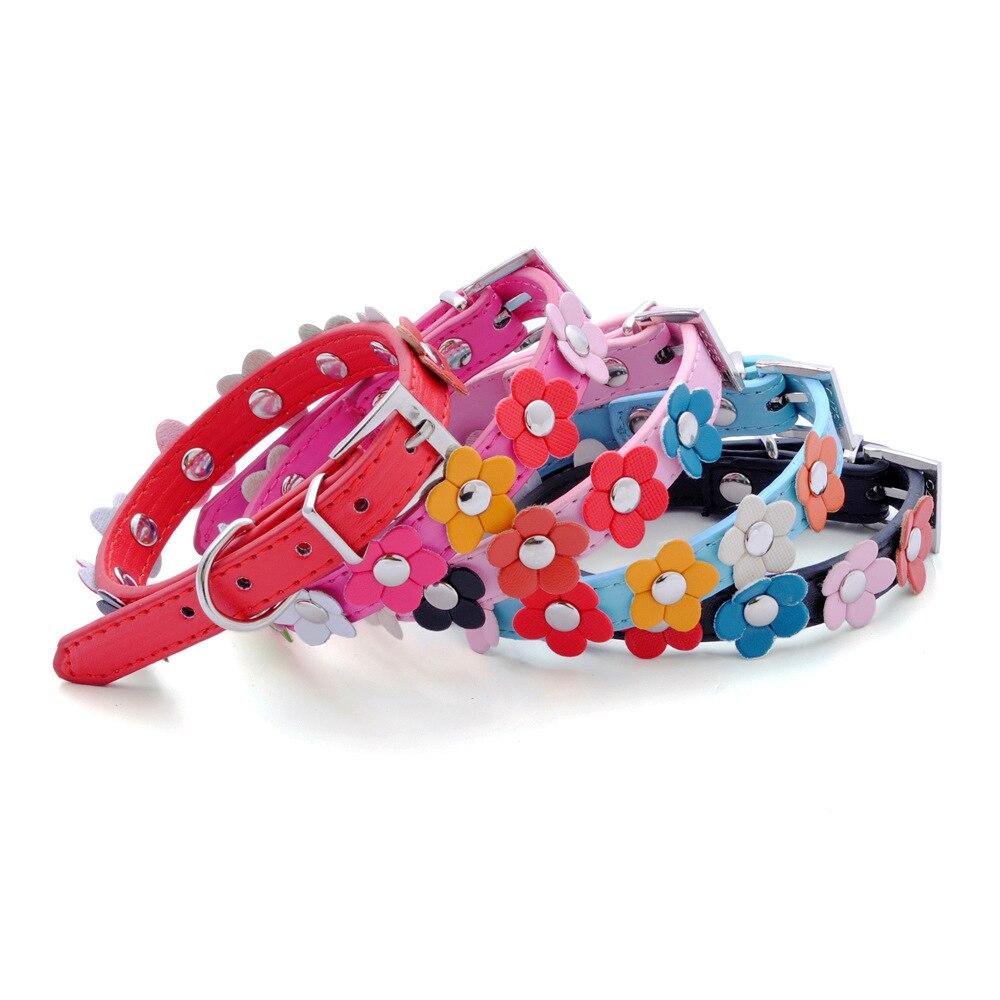 Hot Selling Dog Chain Single Row Small Flower Cute Pet Collar Dog Collar Pet Supplies