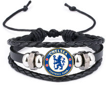 World Sport Ball Team Logo Bracelets Soccer Football Club Print Glass Dome for Men Boyfriend Fans gift jewelry(China)