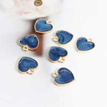 4 Color Heart Charms Enamel Pendants Ornaments Heart Decoration For Bracelet Earrings Necklace DIY Jewelry Findings wholesale 15pcs alloy enamel metal bee charms for jewelry pendants diy earrings necklace making accessory