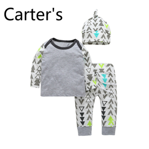 Carters Baby Baby Girl Set Baby Girl Clothes Baby Outfit Home service cute cartoon printed pajamas children's suit autumn Bebek