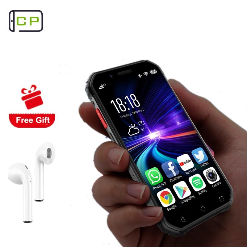 """Cep akıllı telefon çift Sim dört çekirdekli yüz kimliği NFC Walkie Talkie Unlocked cep telefonu S10 4G-LTE Mini su geçirmez cep telefonları 3.0"""""""