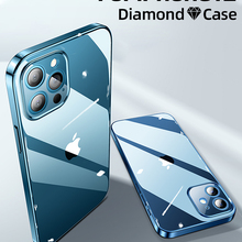 Clear Case Protection-Cover Transparent-Case Back-Pc Shockproof iPhone 12mini Full-Lens