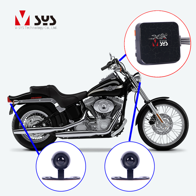 SYS VSYS D6L WiFi 1080P + 720P Motorcycle DVR Camera Recorder Waterproof Lens Dash Cam for Scooter ATV UTV