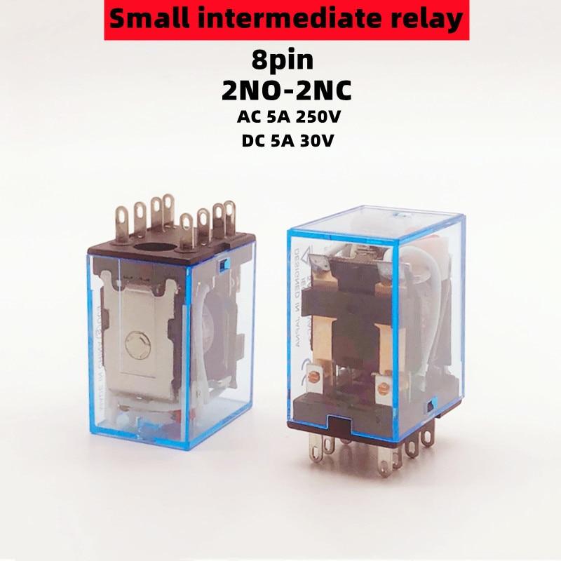 1 шт. MY2N J HH52P DPDT миниатюрная катушка общий электромагнитный промежуточный релейный переключатель AC5A 250 В со светодиодом AC110/220 В DC12/24 В|Реле|   | АлиЭкспресс