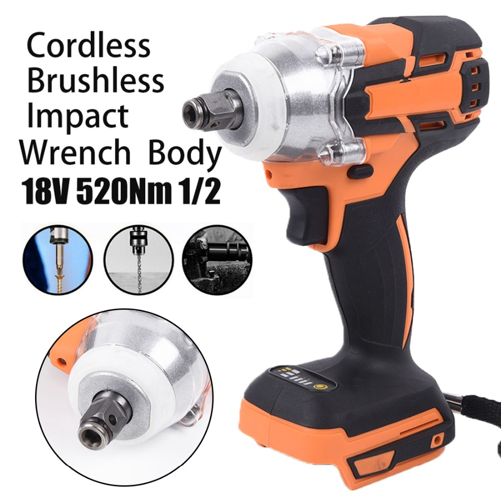 Cordless 1280W Brushless Adjustable 240-520NM Electric Hammer Drill 3