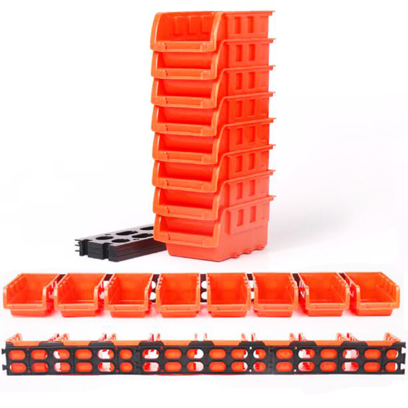 toolbox ABS Awall-mounted storage box foldable tray hardware screw tool organize box parts garage unit shelves components box