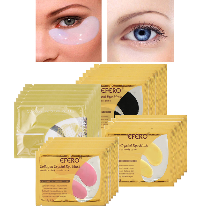 EFERO Collagen Crystal Eye Masks Moisture Anti-Ageing Hydrogel Patches Eyes Mask For Face Mask Eye Patches Under Eyes Pads Bags