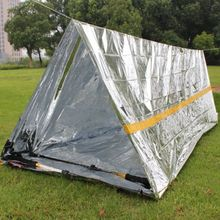 2019 Outdoor Temporary Shelter Multi-functional Reusable  Survive First Aid Exploration Leisure Camping Tent Silver 2018 best selling camping outdoor leisure free building multi purpose fishing wild supplies off site tent bed