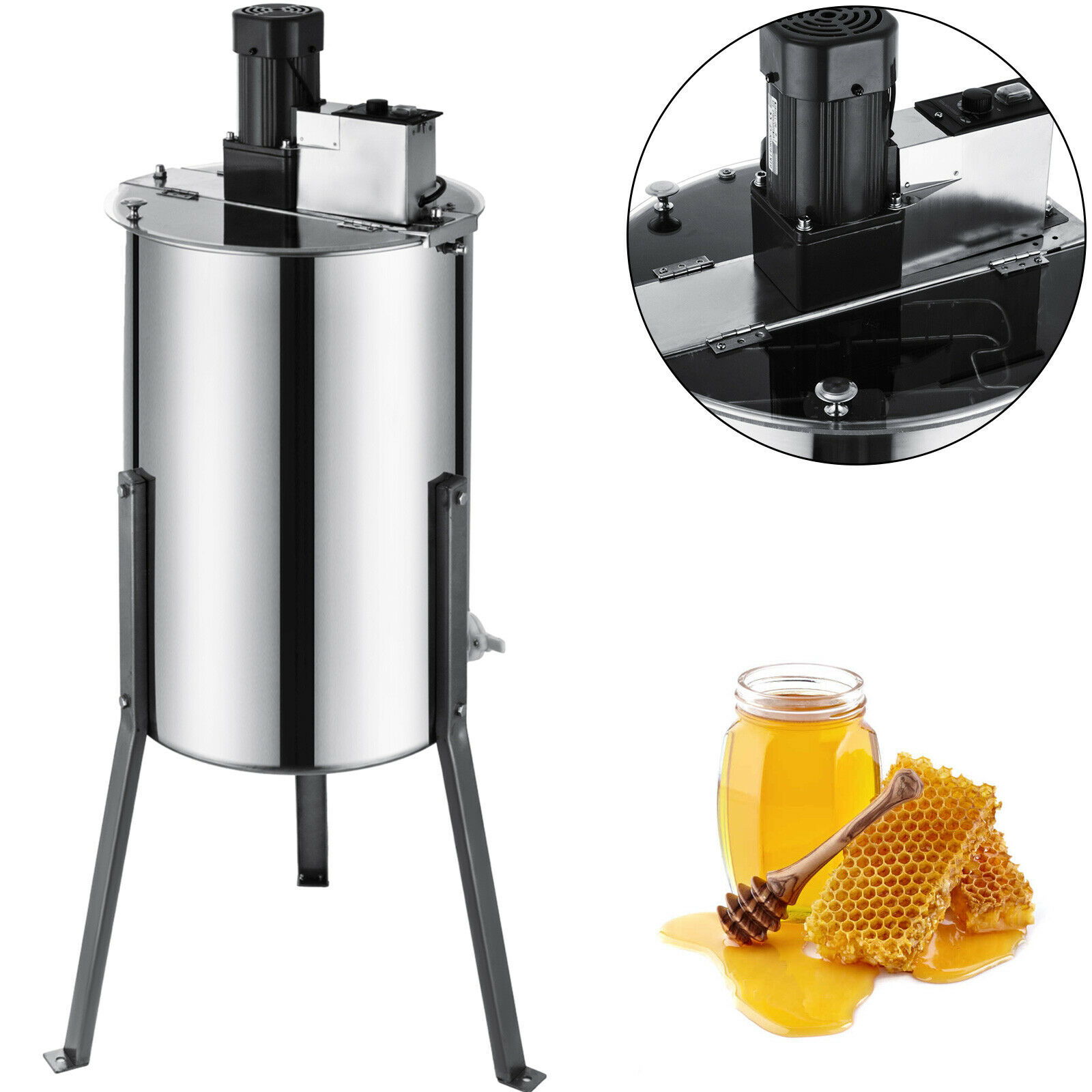 Free Shipping Electric Honey Extractor 2 Frames Honeycomb Honey Stainless Steel Centrifuge