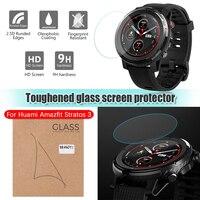 Pantalla de reloj inteligente Protector película protectora para Xiaomi Huami AMAZFIT Stratos 3 Smartwatch GPS cristal templado Protector película