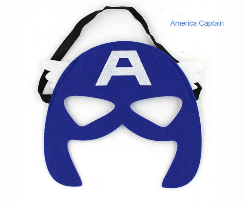 Sıcak Erkek Kız Süper Kahraman Göz Maskesi Güzel Superman Batman Hulk Flaş Cosplay Parti Yortusu Çocuk Çocuklar Parti Maskeleri