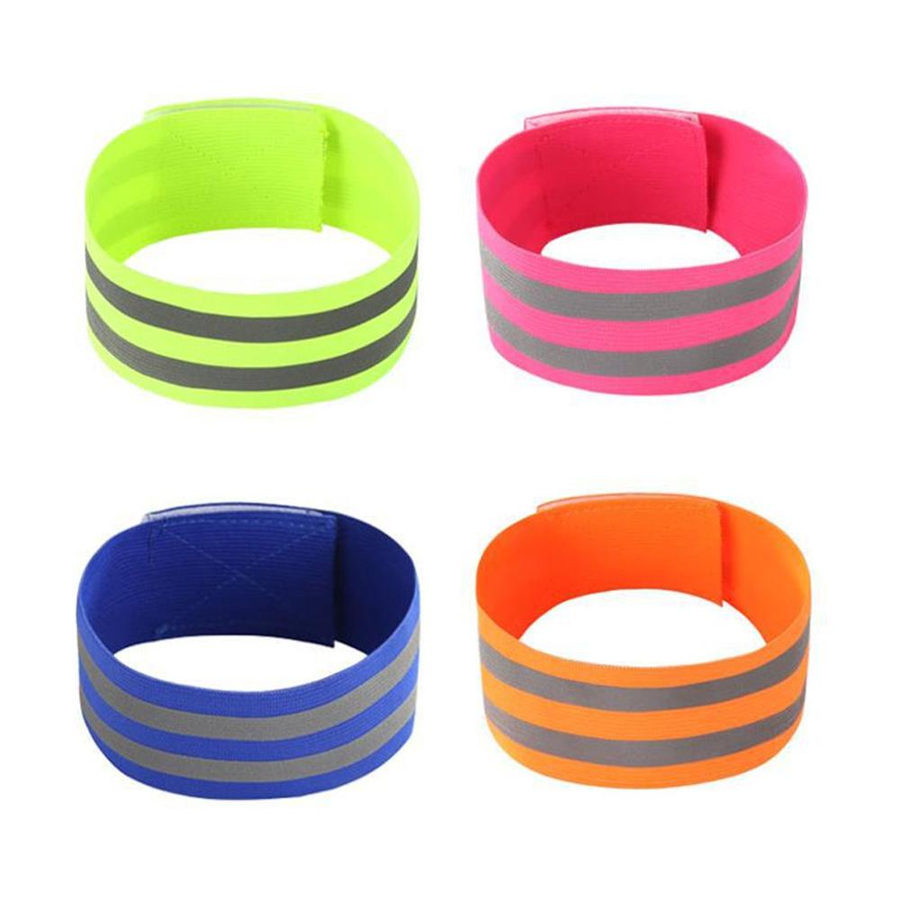 Reflective Bands Elasticated Armband Wristband Ankle Leg Straps Safety Reflector Tape Straps For Night Jogging Walking Biking