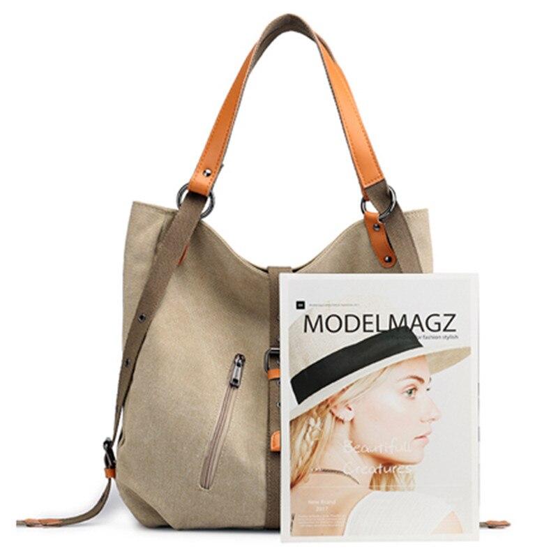 Image 3 - Nova bolsa de ombro das senhoras saco do mensageiro da marca bolsas de luxo bolsas femininas designer grande capacidade lazer lona totes sacBolsas de ombro   -