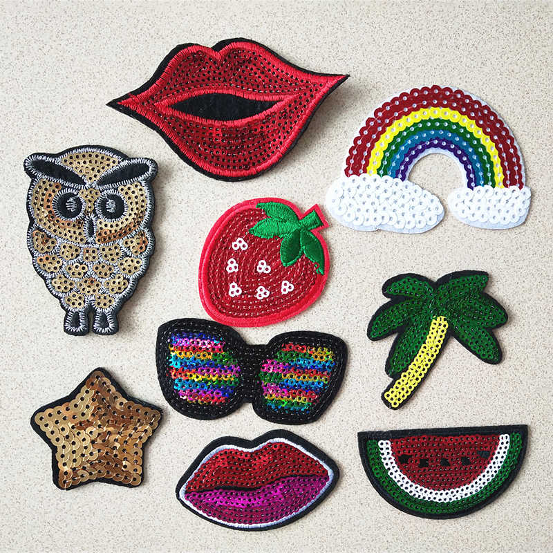 2019 Fashion patch Red carrot Cartoon Iron On Patches For Clothing Embroidery Stripe On Clothes Cute DIY Sequin Applique Badge