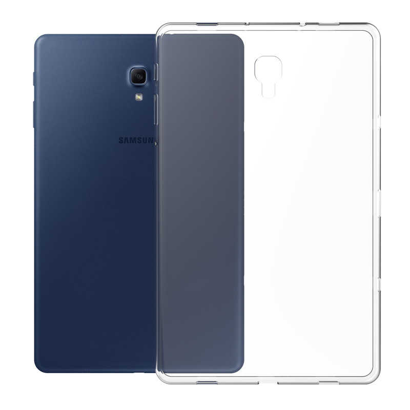 Case untuk Samsung Galaxy Tab A 8.0 10.1 10.5 TPU Transparan Silikon Shockproof Cover untuk S2 S3 S4 S5E S6 8.0 9.7 10.5 Case Belakang