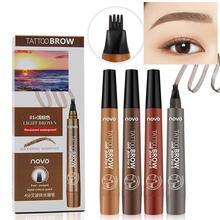NOVO Waterproof Long Lasting Smudge-Proof Four Tips Tattoo Liquid Eyebrow Pencil