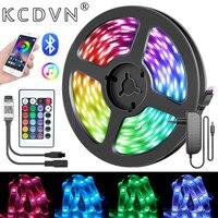 Bluetooth LED Streifen Licht Intelligente Musik APP Control RGB Flexible Luces Led Für Zimmer TV Computer Schlafzimmer Party Küche DC 12V