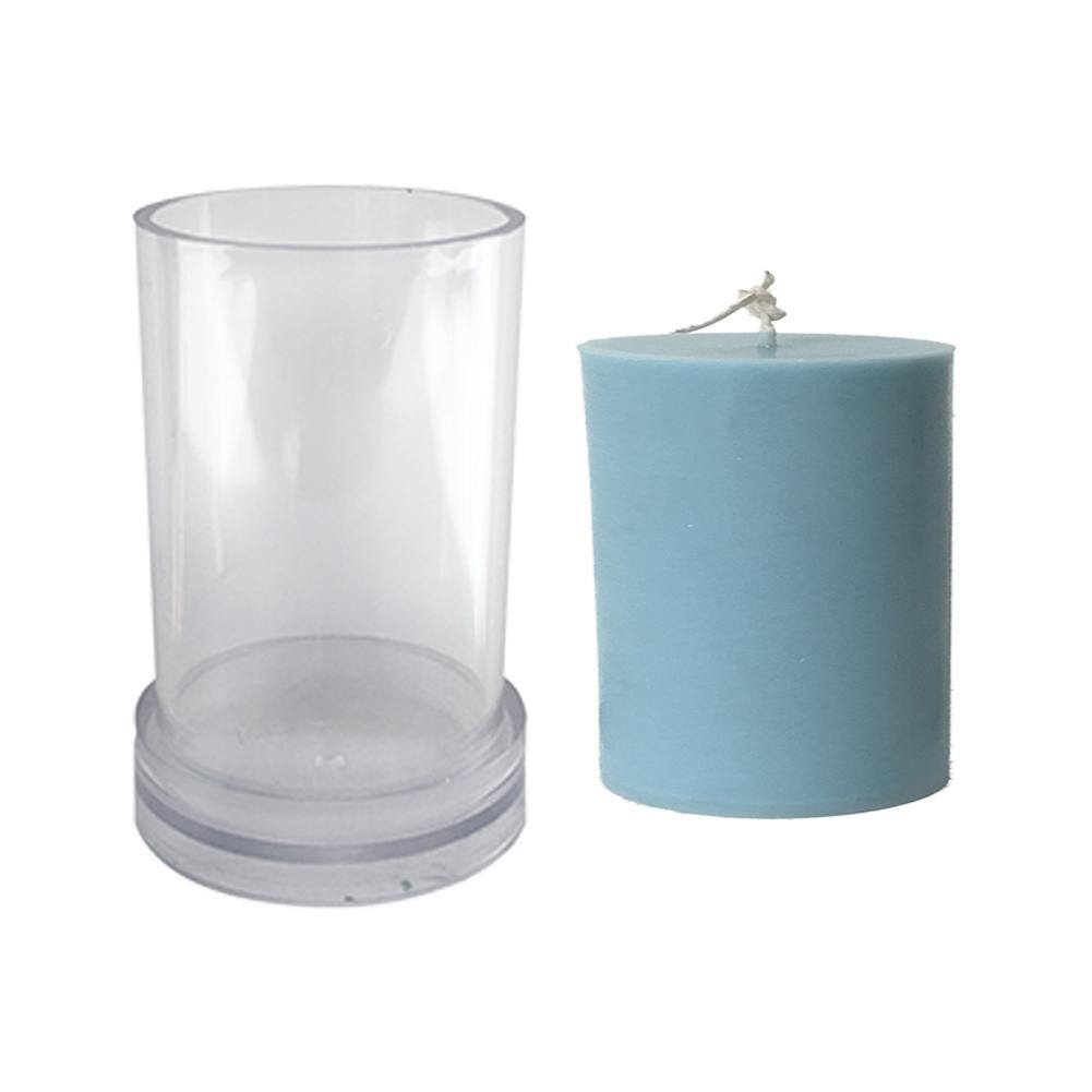 Cylinder Candle Mold Silicone Mould For Candle Making DIY Gypsum Plaster Mould Clay Resin Molds Aromatherapy Soap Candle Mold
