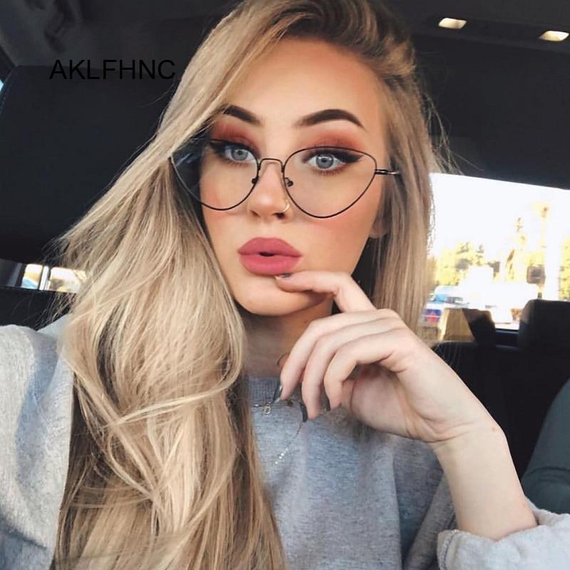 Cat Eye Glasses Frame Women 2019 Fashion Clear Glasses Lens Myopia Optical Glasses Frame Oculos Feminino